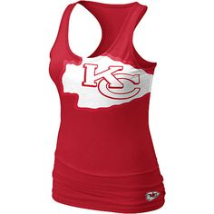 Women's Nike Kansas City Chiefs Big Logo Tank Top