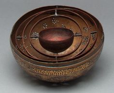 Censer-ball, the incens in a bowl in a gimbal inside the ball (shown without top half).