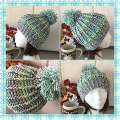 Variegated Winter Beanie This hat is awesome! Fabulous yarn for a fabulous garment.  Wear with style this winter. A matching scarf can be made to go with it, for an extra $15. Customizable in size but not color.  More like this one will be added as more of this type of yarn becomes available. Amanda DePastino Accessories Hats