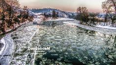 Berounka river near Karlstejn Castle