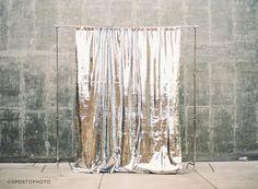Sequin Backdrop™ //  Gilded Metal // Silver