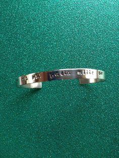 Da Mi Basia Mille Hand Stamped Cuff Bracelet by EnchantedObjects, $15.00