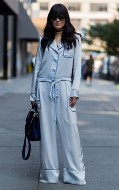 OOTD: Mariah Bernardes's Blue PJs Are Style (& Siesta) Perfection #RueNow