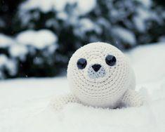 PATTERN Bubbly the Baby Seal crochet amigurumi in