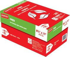 Staples®. has the Staples® FSC-Certified Copy Paper, 20 lb., 8-1/2'' x 11'', Case you need for home office or business. Shop our great selection, read product reviews and receive FREE delivery on all orders over $20.