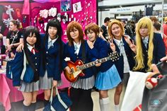 K-on! cosplay group at Melbourne Supanova 2012, Day 2