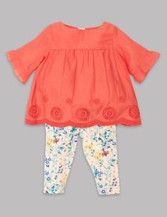 She'll not only look adorable but feel comfortable too in this cute outfit.