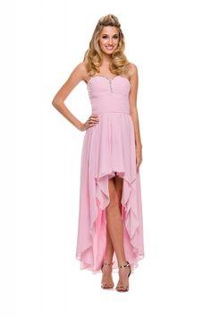 Růžové dlouhé šaty do tanečních