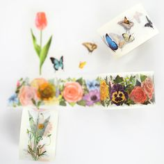 Gorgeous floral patterns and pretty butterflies.30x10mMade in Japan