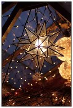 Always thought these old fashioned star lamps were chic