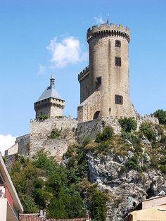Château-forteresse de Foix - région midi-Pyrénées - la Tour ronde