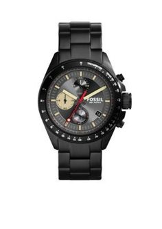 0ca1cc4f2d0 Fossil Mens Black Chronograph Watch Popular Watches