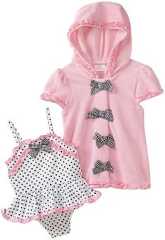 Kids Headquarters Baby-girls Infant Bow Ties Swimwear with Cover Up $27.00  i love this