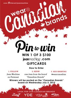 Pin to Win with our Canadian Brands
