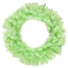 Vickerman 24 Chartreuse Wreath with 50 Green Lights *** To view further for this item, visit the image link.