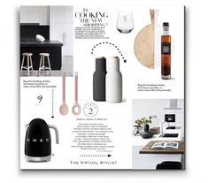 """A fashion look created by featuring The Compass Table Numbers, Monogrammed Block Letter """"W"""" Stemless Wine Glass, Wood & Marble Cutting Board, Style Stainless Steel Variable Temperature Tea Kettle. Browse and shop related looks. Stylists, It Is Finished, Create, Unique, Room, Shopping, Beautiful, Style, Bedroom"""