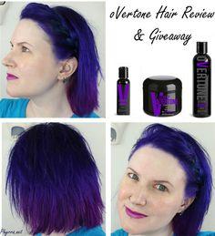 oVertone Hair Products Review & Giveaway! Enter now!  #brighthairphyrra #overtone #crueltyfree #hair #beauty #purplehair #dreamhair #mermaidhair