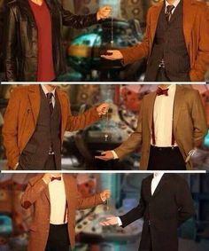 Passing the key to the TARDIS...