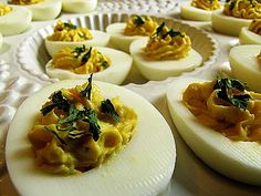 Nothing disappears faster off a potluck table than deviled eggs. In fact, some people go to potlucks just for the deviled eggs. (That would be me.) I've made deviled eggs numerous times, but have never been entirely happy with the result–because of my lack of expertise in hard-boiled eggs. Making perfect deviled eggs, of course, …