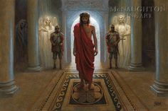 Awaiting the Command Lithograph Art Print by Jon McNaughton Jon Mcnaughton, Faith Scripture, Bible Scriptures, Litho Print, Crown Of Thorns, Jesus Lives, Religious Art, Savior, Jesus Christ