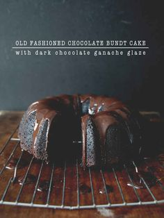 Old-Fashioned Chocolate Bundt Cake - this was good and chocolaty but dry.
