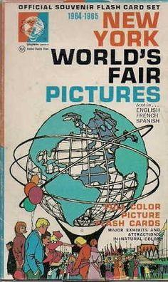 New York World's Fair 1964 Souvenir picture flash cards.