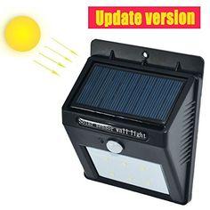 Bright Outdoor Solar Lights Led Solar Power Pir Motion Sensor Wall Light Outdoor Waterproof