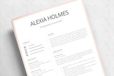R23-Alexia Holmes-12 Microsoft Word Resume Template, Modern Resume Template, Creative Resume Templates, Cv Template, Resume Cover Letter Examples, Resume Objective Examples, Cover Letter For Resume, Cv Examples, Simple Cover Letter
