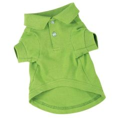 Zack & Zoey Cotton Polo Dog Shirt, Small, 12-Inch, Parrot Green - http://www.thepuppy.org/zack-zoey-cotton-polo-dog-shirt-small-12-inch-parrot-green/
