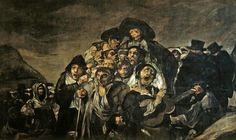 La romería de San Isidro es una de las Pinturas negras que formaron parte de la decoración de los muros de la casa —llamada la Quinta del Sordo— que Francisco de Goya adquirió en 1819