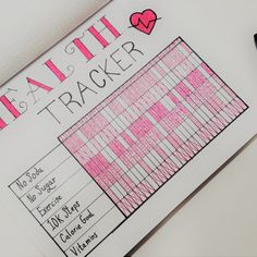 Weight Loss Tracker for Bullet Journal - Develop Healthy Habits! Use a Weight Loss Tracker in your Bullet Journal to help you lose weight, get healthy and stay health! Take a look at these 3 gorgeous spreads! Bullet Journal Health, Bullet Journal Weight Loss Tracker, Weight Loss Journal, Bullet Journal Writing, Bullet Journal Layout, Bullet Journal Ideas Pages, Journal Pages, Bullet Journal Exercise Tracker, Journals