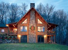 This looks similar to my house. I like the wreath on the chimney.