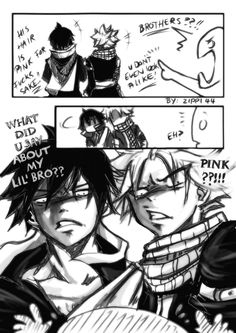 I want zeref and natsu to be my brother