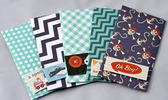 Set of 5 Giftcard Holder Money Envelope by PaperSimplicity on Etsy