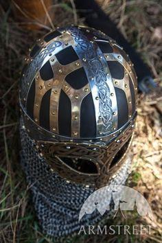 Viking Helmet Brass SCA