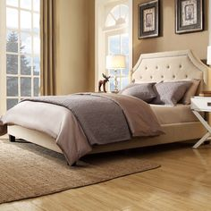 Found it at Wayfair - Somerby Upholstered Panel Bed