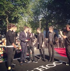 One Direction at the premiere