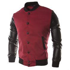 NIBESSER Jaqueta Masculino Fashion Pu Leather Patchwork Hoodies Basic Jacket 2017 Autumn Men'S Bomber Jackets Coats Outerwear z0 #Affiliate