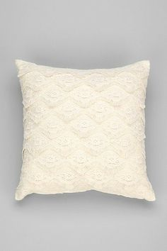 Plum & Bow Layered Lace Pillow --- and in Navy!
