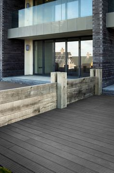 Havwoods HO1010 Endura Fluted Decking Board Anglesey Wales, Timber Boards, Composite Decking, Childrens Hospital, Natural Stones, Pergola, Exterior, Outdoor Structures, Flooring