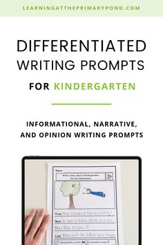 These simple writing prompts for Kindergarten make it easy to differentiate and support your beginning writers! Each of these 60 prompts comes with several graphic organizers, many options for drafting paper (with built-in supports), and publishing/final draft paper. All paper options have plenty of space for students to draw, too. The built-in supports include sentence starters, word banks, and self-assessment checklists. Narrative Writing Prompts, Kindergarten Writing Prompts, Fiction Writing, Writing Process, Writers Help, Sentence Starters, Informational Writing, Graphic Organizers, Student Learning