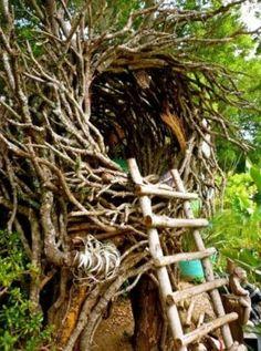 Treehouse Nest #kids #backyard #playscapes