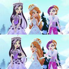 Ever After High Fairest on Ice Duchess Swan, Ashlynn Ella & Poppy O'hair