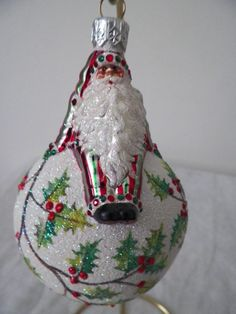 Patricia Breen Steadfast Santa Holly Christmas Ornament