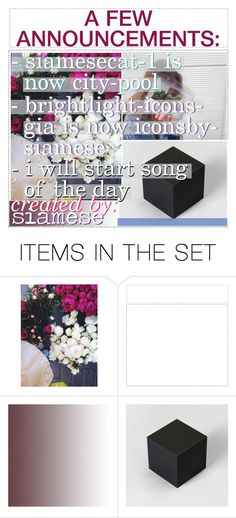 """A FEW ANNOUNCEMENTS"" by city-pool ❤ liked on Polyvore featuring art"
