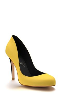 Shoes of Prey Round Toe Leather Pump (Women) available at #Nordstrom --- Love love love all color options