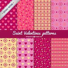 Saint Valentine's patterns