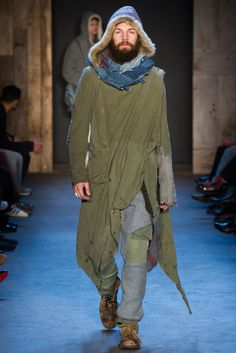 Post apocalyptic chic.   Greg Lauren - Fall 2015 Ready-to-Wear - Look 17 of 51