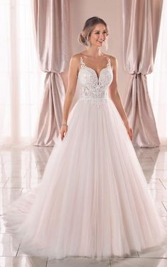 0245d8aa50 Soft Ballgown Wedding Dress with Romantic Shimmer - Stella York Wedding  Dresses