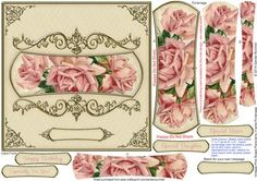 Vintage Pink Roses Panoramic Frame Pyramage on Craftsuprint designed by Sandie Burchell - Beautiful 6.5 inch Square Card with panoramic shaped pyramage with ornate frame. Apply to an 8 inch card blank to fit into a standard 8 inch square envelope, if desired. Sentiment Panels include: Happy Birthday, Especially For You!, Special Daughter, Special Sister or Blank for your own peel-off lettering or stamp. There is also a Matching Insert for this design please see related sheets. To see more of…